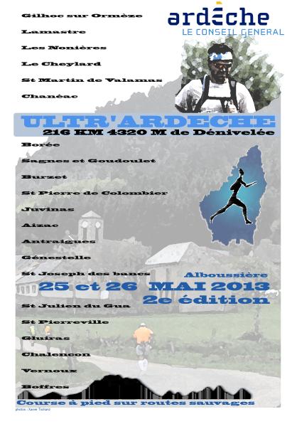 216 Km Ultrardeche 2013 Affiche2013